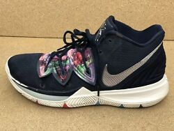 Nike Kyrie 5 Multi color Galaxy Navy Blue Shoes A02918 900 Men#x27;s US Size 10 $35.00