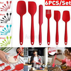 6pcs Silicone Spoon Utensil Spatula Set Non stick Heat Resistant Baking Kitchen $12.77