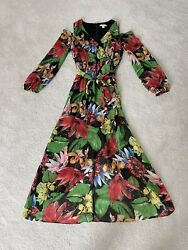 High Low Open Shoulder Floral Dress $15.00