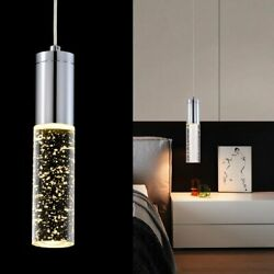 LED Simple Style Chandelier Glass Starry Pendant Light Adjustable Hanging Lamp $42.75