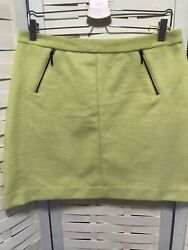 "Mamp;S Size 14 Wool Mix Citrus Coloured Skirt Length 18"" GBP 8.95"