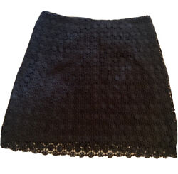Vince Camuto Women's Skirt Short Pencil Black Lace Size 6 Cotton Fully Lined Zip $17.95