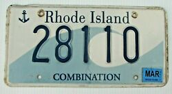 2011 RHODE ISLAND GRAPHIC WAVE COMBINATION AUTO LICENSE PLATE quot; 28110 quot; RI 11 $18.99