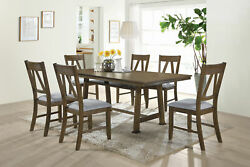 Kings Brand Furniture 7 Piece Dining Room Set. Table amp; 6 Chairs Brown Blue $735.99
