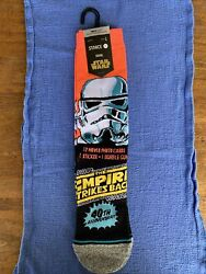 Stance Star Wars Trooper Crew Socks LARGE 40th Anniversary NWT $19.99