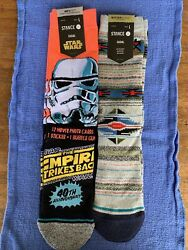 Stance Star Wars Trooper Crew Socks LARGE 40th Anniversary Predecessor NWT 2 Pr $35.00