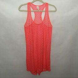 Xhilaration Women's Bathing Suit Cover Up Dress Coral Pink Size Small $11.99