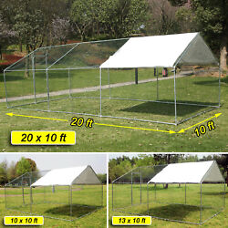 Large Walk in Chicken Coop Hen House Enclosure Backyard Poultry Cage w Cover XL $379.99