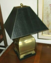 Frederick Cooper Asian Style Brass Lamp w Original Shade $175.00