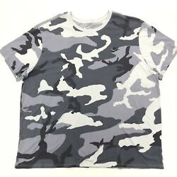 NIKE Camouflage Camo Tee Shirt Mens 4XL Premium Finish