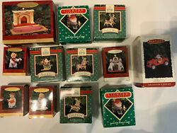LOT 12 OF HALLMARK KEEPSAKE CHRISTMAS ORNAMENTS $30.00