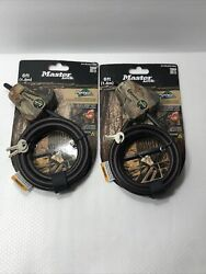 Master Lock Python Adjustable Locking Cable Camouflage Lot Of 2 Cable Locks $42.99