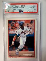 DARRYL STRAWBERRY 1984 Topps #29 ⚾️ All Star Set NEW YORK METS PSA 10 C $198.00
