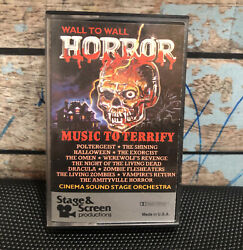Wall To Wall Music Horror Movies Cassette Tape Halloween Exorcist Zombie Omen $19.99
