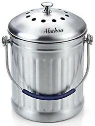 Compost Bin 1.8 Gallon Stainless Steel Abakoo 304 Stainless Steel Kitchen Comp $55.99