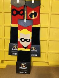 Stance Set off 3 Disney Pixar The Incredibles Crew Socks Youth Large 2 5.5 New $23.99