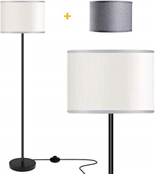 Floor Lamps for Living Room with 2 Lamp Shades LED Modern Standing Lamp Simple $54.88