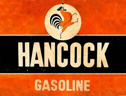 TIN SIGN quot;Hancock Roosterquot; Gas Oil Signs Rustic Wall Decor $7.35