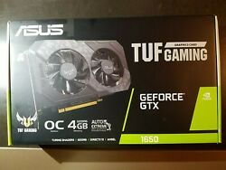 ASUS TUF GAMING GPU GTX1650 OC 4GB GDDR6 OPEN BOX $350.00