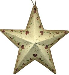 Rustic Country Metal Barn STAR heart floral hearts Sign wall stars Decor $5.84