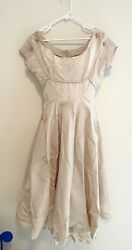 Pale Pink Vintage Formal Fifties Dress with Petticoat sz 10 $20.00
