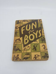 Fun For Boys 1943 Knickerbocker Publishing SC Book $14.00