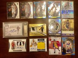 Lonzo Ball 2017 18 Encased Auto Patch Bgs 9.5 National Treasures Opulence RC Lot