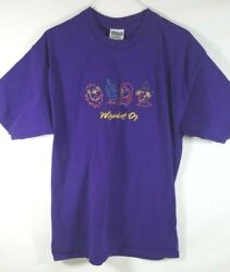 Wizard of Oz Embroidered T Shirt Purple Novelty Size XL $14.99