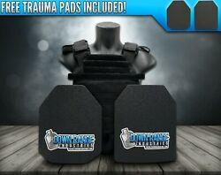 AR500 Level 3 III Body Armor Plates 10x12 with Molle Vest Carrier $134.96