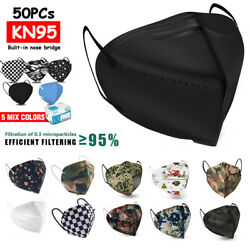 60 Pack KN95 Protective 5 Layer Face Mask BFE 95% PM2.5 Disposable Respirator $25.99