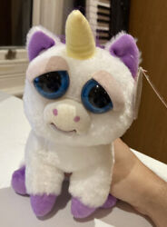 Feisty Pets Unicorn Glenda Glitterpoop Soft Plush Toy Angry Change Face With Tag GBP 20.00