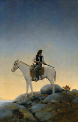 The Outlaw by Maxfield Parrish 14quot; Paper Print Repro $19.99