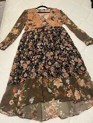 ZARA Floral Chiffon Long Sleeve Maxi Dress BLOGGERS amp; INTRAGRAM FAV size XL $89.95