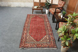 Vintage Oriental Traditional Wool Handmade Pink and Red Geometric 4x8 Area Rug $499.00