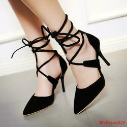 Sexy Womens Pointed Stilettos High Heels Bandage Pumps Dress Party Shoes $46.66