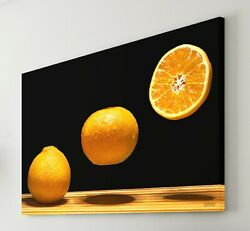Kitchen Canvas Oranges Tangerine 16x24 Inch Stretched Print Wall Art Framed Gift $54.99