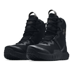 Under Armour UA VALSETZ Micro G® Men#x27;s 8 in Black Lace Military Tactical Boots $110.00