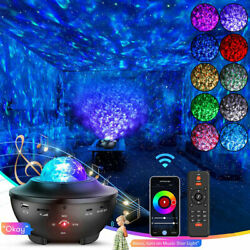 LED Galaxy Starry Sky Night Light Projector Ocean Star Party Speaker Lamp Remote $28.00