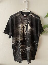 RARE Vintage 90s Gustave Dore Jesus Christ Crucifixion Art All Over Tee Shirt L $500.00