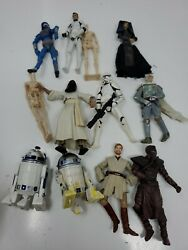 12 Star Wars Loose Lot of incomplete 3.75 figures Great Customs $56.00