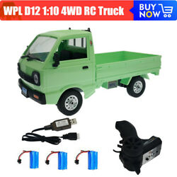 WPL D12 Electric RC Car 1:10 Scale 4WD Brushed LED Light Climbing Car Truck Toys $62.99