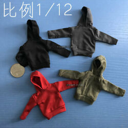 1 12 Hoodie Coat Sweater Shirt Clothes Props For 6#x27;#x27; Male Action Figure Body $18.79