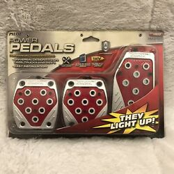 Light Up Red Power Pedals Gas Brake Clutch Universal Manual Auto Pilot PM 289R $29.77