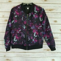 Simply Styled by Sears Womens Size S Jacket Lightweight Satin Floral Full Zip $19.54