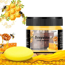 Seasoning Beeswax For Furniture Wood Cleaner And Polish For Floor And Sponge NEW $8.13