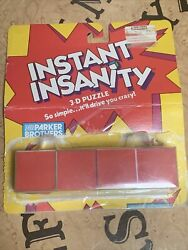 Instant Insanity 1986 Vintage With Original Package $10.00