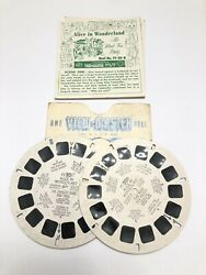 VIEW MASTER REEL 20B amp; C ALICE IN WONDERLAND THE MAD TEAR PARTY amp; SLEEVE 1952 $10.50