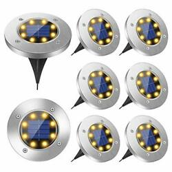 8 PCS Solar Ground Patio Lights LED Bulbs Bright Right Outdoor Lights Waterproof $26.64