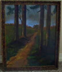 NICE OLD OIL ON BOARD...LANDSCAPE...THOMAS HILL $315.00