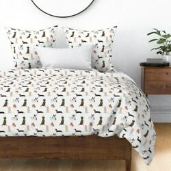 Dogs Cute Pets Animals Whimsical Nursery Gender Sateen Duvet Cover by Roostery $204.00